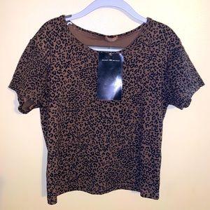 Brandy Melville brown cheetah Ashlyn top🤎